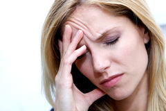 Unhappy Depressed Woman Royalty Free Stock Photos