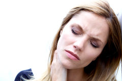 Unhappy Depressed Woman Stock Images