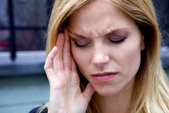 Unhappy Depressed Woman Royalty Free Stock Image