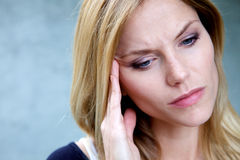 Unhappy Depressed Woman Royalty Free Stock Images