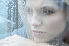 Unhappy Depressed Woman Stock Photography