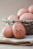 Unhappy Egg Stock Images
