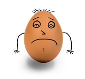 Unhappy egg Royalty Free Stock Images