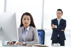 Unhappy  employee Royalty Free Stock Photography