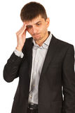 Unhappy executive man Stock Photo