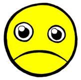 Unhappy face. Illustration of a cartoon style unhappy face Stock Photography