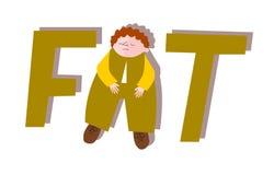 Unhappy fat man. Unhappy big fat man Stock Photography