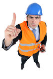 An unhappy foreman. Royalty Free Stock Images