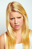 Unhappy girl Stock Photography