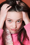 Unhappy girl Stock Images