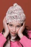 Unhappy girl stock photography