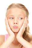 Unhappy girl Royalty Free Stock Image