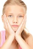 Unhappy girl Royalty Free Stock Images