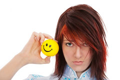 Unhappy and happy faces Stock Photography