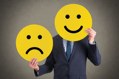 Unhappy and Happy Smileys Stock Photography