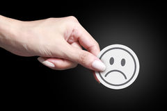 Unhappy icon Stock Images