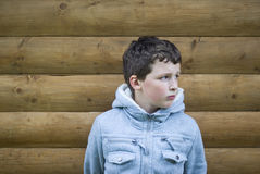 Unhappy little boy Stock Image