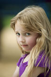 Unhappy Little Girl. Girl is unhappy with something Royalty Free Stock Photos