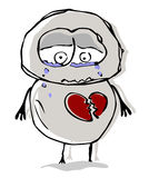 Unhappy love. Stock Photos