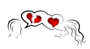 Unhappy love Royalty Free Stock Image