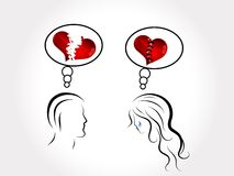 Unhappy love Stock Images