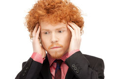 Unhappy man Stock Images