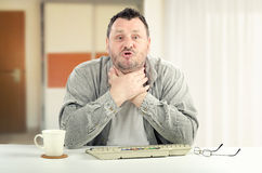 Unhappy man is exceedingly agitated Royalty Free Stock Photo