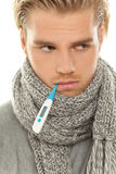 Unhappy man with flu Royalty Free Stock Photo