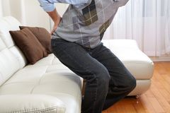 Man suffering from backache Stock Photography
