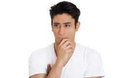 Unhappy man thinking Royalty Free Stock Photography