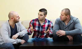 Unhappy men  sharing the problems Royalty Free Stock Photography