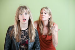 Unhappy Mother Royalty Free Stock Image