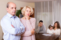 Unhappy multigenerational family Stock Images