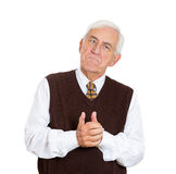 Unhappy old man Stock Images
