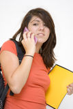 Unhappy phone call Stock Photo