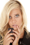 Unhappy phone call Royalty Free Stock Photo