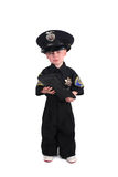 Unhappy Police Officer Holding a Ticket Book Royalty Free Stock Photography