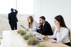 Unhappy and sad Business people financial crisis Stock Photos