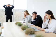 Unhappy and sad Business people of lose. In meeting room Stock Images