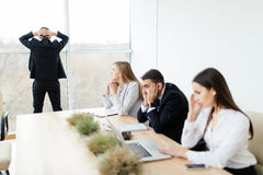 Unhappy and sad Business people royalty free stock photo