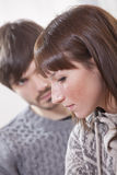 Unhappy and sad couple Royalty Free Stock Photo