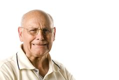 Unhappy senior man Stock Photos