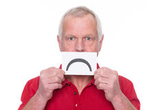 Unhappy senior man Royalty Free Stock Photography