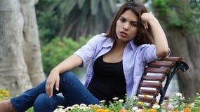 Unhappy Serious Girl Stock Image
