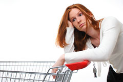 Unhappy Shopper Stock Image