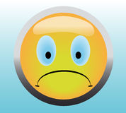 Unhappy smile button Stock Photo