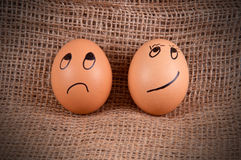 Unhappy and Smirky. Stock Image