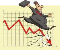 Unhappy stock market investor Stock Photography