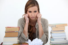 Unhappy student Royalty Free Stock Images