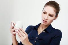 Unhappy tea Stock Image